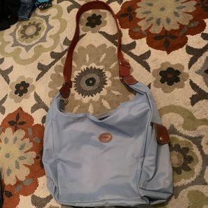 Longchamp blue messenger bag